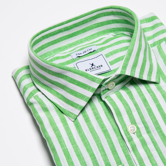JB Cut Shirt, Green Stripe