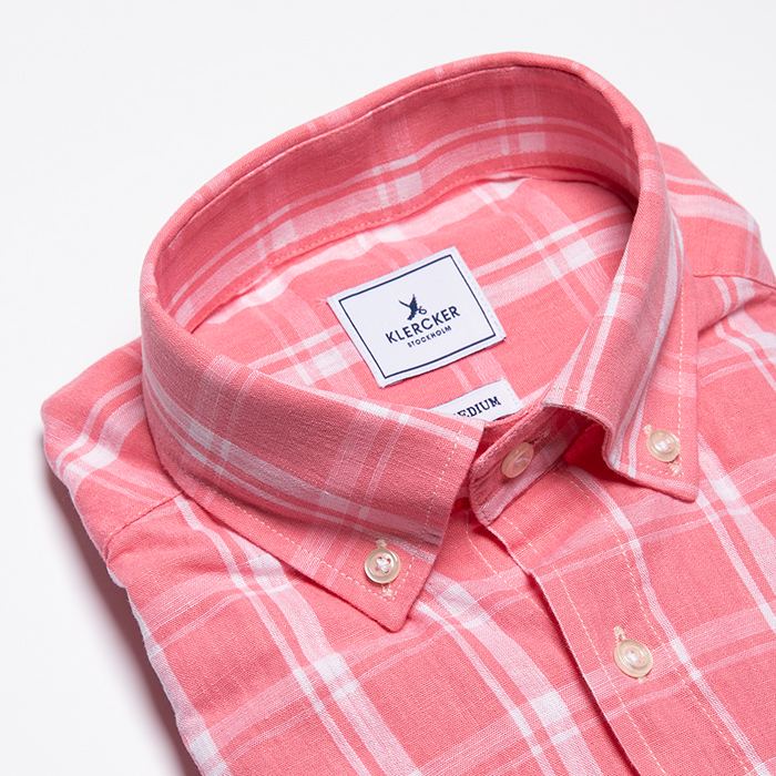 Button Down, Pink Check